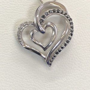 Two Hearts Forever1, 1/4 Ct TW Black Diamond $275